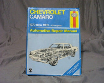 Haynes 1970-1981 Chevrolet Camero V-8 Engine Auto Repair Manual