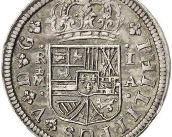 spain real 1726 madrid km #298 au(55-58) silver 2.81