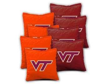 Virginia Tech Hokies Cornhole Bags - Set of 8
