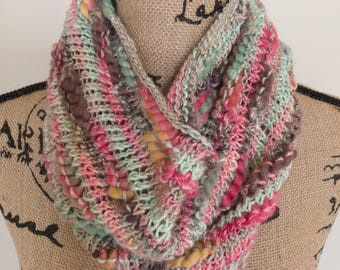 Peppermint Stick Bamboo Cowl