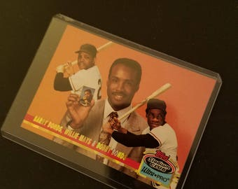 Barry and Bobby Bonds, Willie Mays card