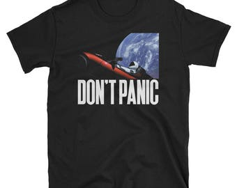 Don't Panic! - a Tribute T-Shirt to E. Musk and the Falcon