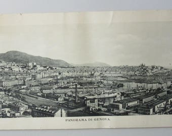 1920-30 ITALY - ITALIA foto Panorama di Genova Photo Poster  72 x 23 cm