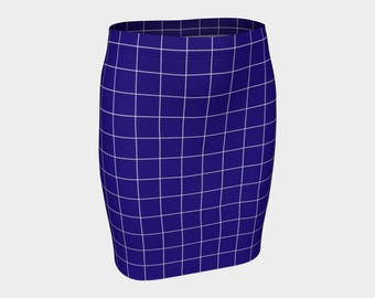 Blue fitted skirt