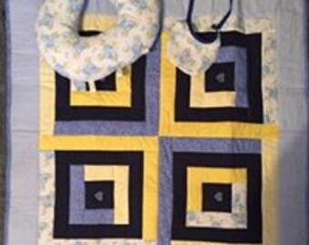 Elephant Baby Quilt Set
