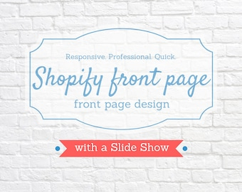 Shopify Front Page design