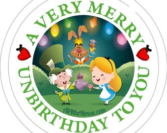 All 4 the Mouse Very Merry Unbirthday Buttons