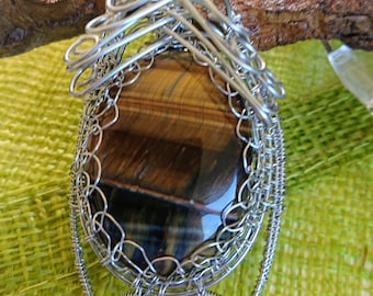 Beautiful wire wrapped pendant