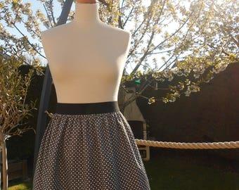 Short skirt gathered woman - size 40 - * customizable *.
