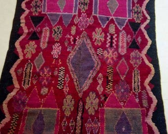 "Moroccan Vintage Berber rug""berber rug""moroccan rug 263-165 cm"