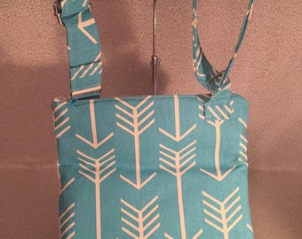 Cross Body Bag, purse, arrow print bag