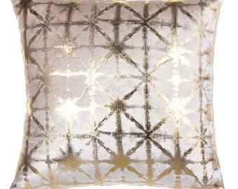 Metallic Shibori Pillow