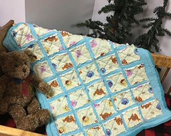 Winnie the Pooh Baby Quilt Gift Set