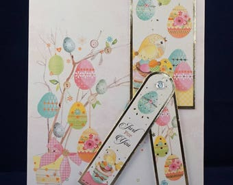 Handmade Card (Hunky-dory) - Easter card 'Just for you'