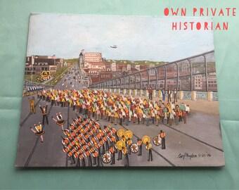"Caryll Hayden Folk Painting ""Opening of The Tuscarawas Bridge"" 1992 - Massillon, Ohio"