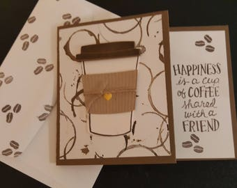 Friendship coffee gift card/Stampin Up