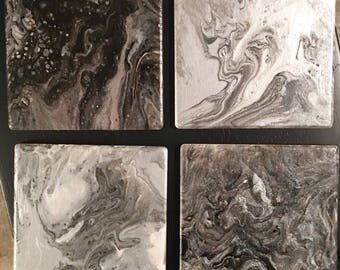 Original Pour Painted Coasters