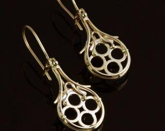 """Gold earrings """"Venice"""""""
