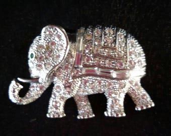Carolee Elephant Vintage Brooch