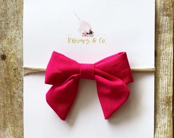 Pink/Red Sailor Bow