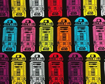 Star Wars fabric cotton by the yard darth vader fabric licensed fabric luke skywalker fabric R2-D2 fabric C3-PO fabric licensed print