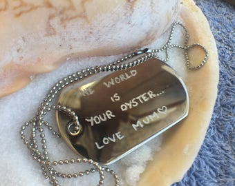 Engraved Dog Tag