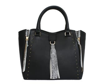 HADI bag in black leather