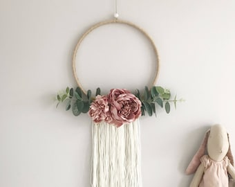 Large Pink Peony Wreath