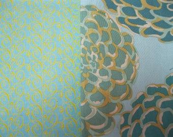 Quality Cotton Quilting Fabric - Two Half Yard Cuts - Teal/Aqua
