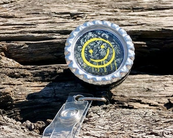 Sherlock Smile Retractable Badge ID Holder Badge Clip BBC Sherlock Holmes Convention Ready