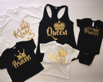 Birthday Shirts, King and Queen Matching Shirts, Prince and Princess Shirts, Birthday Shirts, Couples Matching Shirts