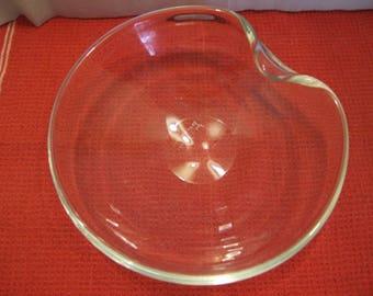 "Elsa Peretti for Tiffany  8"" ""thumbprint"" bowl, clear crystal"