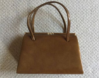 Vintage Kelly Bag 1950s Caramel Brown Goodwood Twinwood