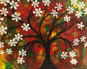 Flower Tree on canvas