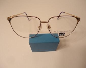 NOS Diane Von Furstenberg Eyeglass Frames 921 140 Violet Lot 135