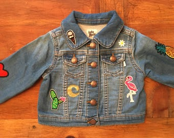 Custom Patch Kids Denim Jacket