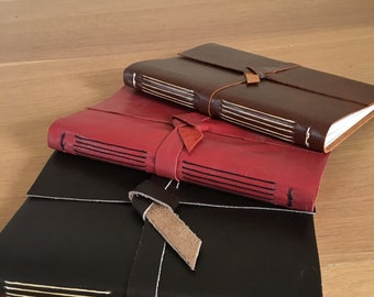 Handmade leather journal / sketchbook / notebook