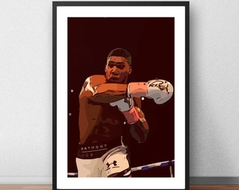 Anthony Joshua Vector Print