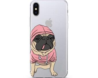 Dog Pug case iPhone 8 Plus case Samsung S7 Edge case Pug Phone case iPhone 7 Plus case puppy case Samsung S8 case iPhone X case Doggy Cute