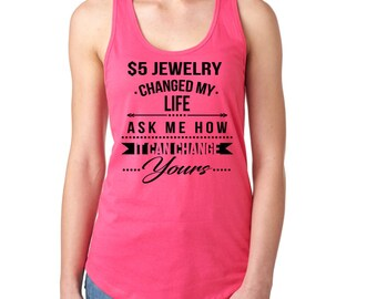 5 Dollar changed my life tank top pink