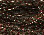 Deco Flex Tubing, Mesh Tubing, 8mm x 30 Yd, Antique Red And Lime Green Tubing, 10H8 B1