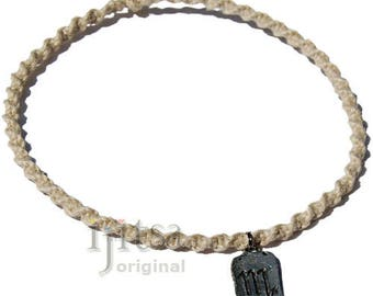 Natural Twisted Hemp Choker Necklace with Scorpio Zodiac Sign