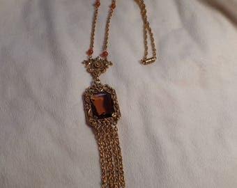 1960's Victorian Revival Necklace Signed Goldette