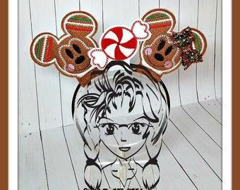 GiNGER MrM MsM CaNDY Inspired (3 Piece Set) ~ ITH Mr Miss Mouse Ears Headband ~ INSTaNT Download Machine Embroidery Design by Carrie