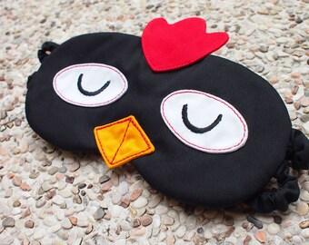 Rooster Sleep Mask, Chicken Sleep Mask, Chicken eyemask, Chicken sleep eye mask, Chicken Mask, BLACK Chicken, Sleeping Mask, Chicken Gifts