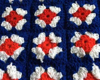 Red White & Blue Queen Blanket