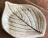 Hydrangea Leaf jewelry dish, soap dish, spoon rest