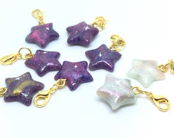Polymer Clay Star Charm with Lobster Clasp