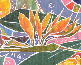 Paradise 5x7 Original Acrylic on Canvas board by Melanie Pruitt SFA CAAT