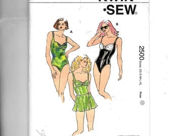 Kwik Sew Misses' Swimsuits and Skirt Pattern 2500